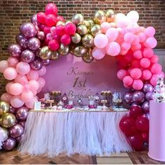 Children's Party Balloons - By Bubblegum Balloons Bubblegum Balloons, Pink Balloons, Helium Balloons, Balloon Arch, Balloon Garland, Balloon Decorations, Baby Shower Decorations, Balloon Birthday Themes, Birthday Party Decorations