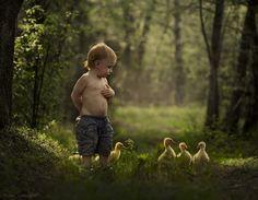 Çocuk Yavru Ördek Fotoğraf