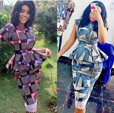Hello Fashionistas Today we bring you some Amazing And creative Ankara skirt and blouse styles to try out.Ankara skirt and blouse styles That will give you that Ankara Skirt And Blouse, Ankara Dress Styles, African Print Dresses, African Print Fashion, Africa Fashion, Blouse Styles, Ankara Gowns, African Attire, African Wear