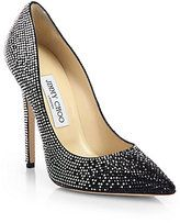 tartini crystalcoated suede degrade pumps