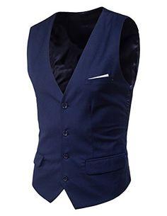 Boom Fashion elegante Panciotto Gilet uomo Slim Fit casual cerimonia Matrimonio Giacca Blazer