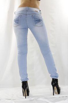 Vaquero Jeans Azul Nube Push Up Estilo Colombiano - Bekiro