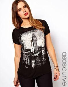 ASOS Curve | ASOS CURVE Exclusive T-Shirt With London Print at ASOS