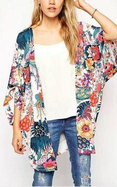 floral kimono wrap