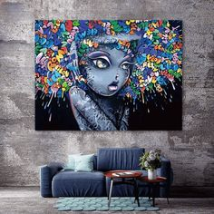 Modern Creative Abstract Girl Graffiti Canvas Painting For Kids Room Wall Art Posters And Prints Wall Pictures Decor Graffiti Art, Arte Pop, Estilo Popular, Tableau Pop Art, Canvas Wall Art, Canvas Prints, Painting Prints, Art Prints, Kunst Poster