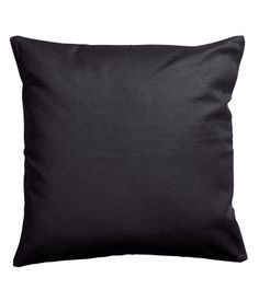 Gray. Cushion cover in cotton canvas with concealed zip.