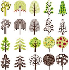 48 Ideas For Drawing Ideas Trees Illustrations Doodle Drawing, Doodle Art, Doodle Trees, Doodles, Tree Illustration, Tree Designs, Art Plastique, Tree Art, Vector Art