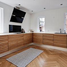 Kitchen Interior, Kitchen Design, Small Places, Danish Design, Kitchen Living, Cabinet, Storage, Kitchen Inspiration, Interior Ideas