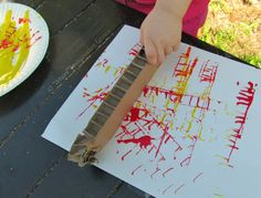 Print making with recycled cardboard from Where Imagination Grows
