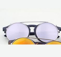 d44c8090273 Retro punk dual-use plug-in lens Steampunk Sunglasses Round Glasses Goggles  Fashion Summer Cool Flip Up Sunglasses Retro Vintage