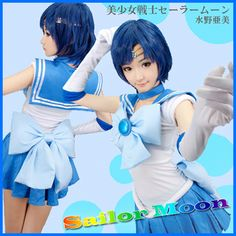 Sexy Adult Sailor moon Sailor Mercury cosplay costumes custom tailor on Aliexpress.com  sc 1 st  Pinterest & Sailor Moon Sailor Mercury Cosplay Costume Sailor Moon Cosplay ...