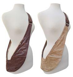 PRE-ORDER: Reversible Brown/Tan Genuine Leather Sash Bag