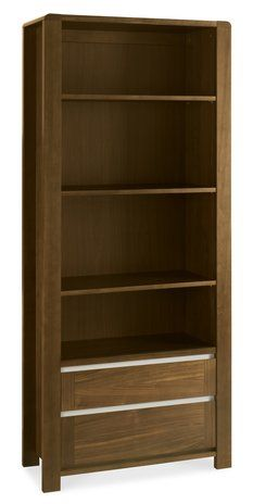 Buy the Bentley Designs Casa Walnut Wide Bookcase from Oak Furniture House with free delivery* Modern Home Office Furniture, Oak Furniture House, Walnut Furniture, Furniture Showroom, Furniture Upholstery, Cheap Furniture, Bentley Design, Wide Bookcase, Large Shelves