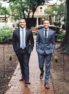 Ryan and Johnny's Intimate + Elegant Fall Wedding in North Carolina Lgbt Wedding, Wedding Attire, Same Love, Cute Gay Couples, Tuxedo For Men, Groom Attire, Mens Fashion Suits, Suit And Tie, Fall Wedding