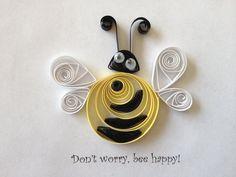 Bee Card - Quill Art. $6.00, via Etsy.