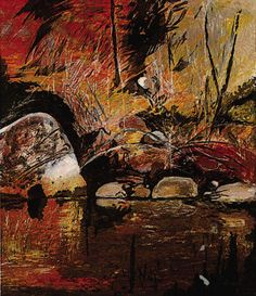 """""""Arthur Boyd prints, Galeria Aniela the world's local fine art gallery"""" I was searching for collagraph prints for an article and found this one. I didn't know that Arthur Boyd had done collography and I love this one. Australian Painting, Australian Artists, Abstract Landscape, Landscape Paintings, Abstract Art, Landscapes, Expressionist Artists, Expressionism, Arthur Boyd"""