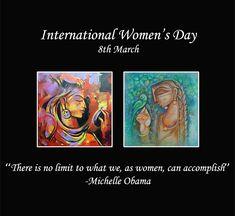 Happy Women's Day! #InternationalWomensDay2019 #WomenPower #feminist #WomensDay #artgallery #artspicegallery #art_we_inspire #artlovers #love Ravi Laks Art Aneefa Women's Day 8 March, 8th Of March, Happy Woman Day, Michelle Obama, Powerful Women, Ladies Day, Art Gallery, Inspire, Thoughts