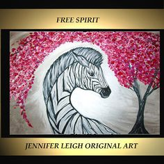 Original Large Abstract Painting Modern Contemporary Canvas Art Silver Black FREE SPIRIT Zebra 36x24 Palette Knife Texture Oil J.LEIGH