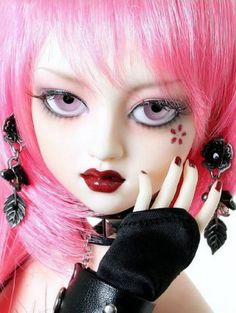 pink realistic doll