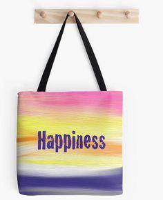"Tote Bag Happiness 16"" x 16"" Bag by ArtByAnneManera on Etsy"