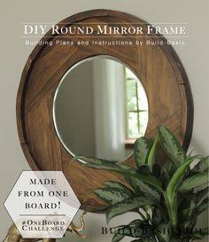 The best projects are those that look like they are complicated and fancy when in all actuality they are very easy! Here is a great example of that, this round mirror frame made from just ONE 1x8 board! Make it look even fancier finished with a beautiful Rust-Oleum Wood Stain color! http://www.rustoleum.com/product-catalog/consumer-brands/wood-care/ultimate-wood-stain/