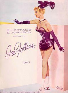 Fritz Willis illustration - Ice Follies 1957 vintage skating program