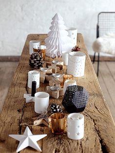 Farolillos, candeleros, abetos... Navidad en la mesa