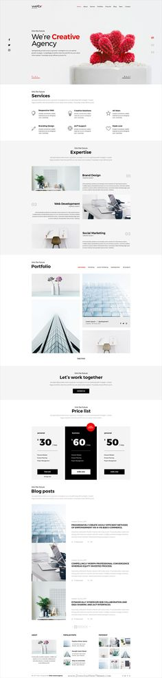 Webr is clean and modern design #PSD template for minimal #portfolio and #agency website with 9 layered PSD pages download now..