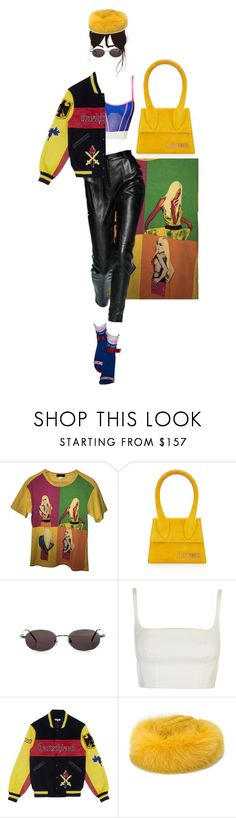 """MON CHERIE"" by heaux ❤ liked on Polyvore featuring Versace, Jacquemus, Jason Wu, Gucci, Puma, Opening Ceremony and Borsalino"