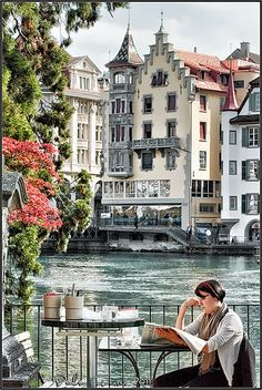 Coffee break in Lucerne, Switzerland