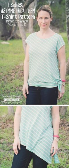 Make this perfect for summer, easy T-Shirt with the included free printable pattern and tutorial.