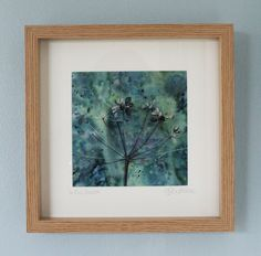 Framed print of Cowparsley, hedgerow print, print of wild flowers, seedheads, green print, green painting by PenstoneArt on Etsy