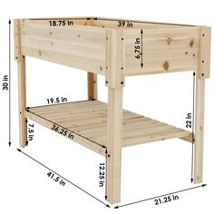 Find some classic planter choices like the Sunnydaze Raised Wood Garden Bed Planter Box with Shelf, Tall from Serenity Health & Home Decor. Elevated Garden Beds, Raised Garden Bed Plans, Building Raised Garden Beds, Raised Beds, Raised Herb Garden, Raised Garden Planters, Raised Bed Gardens, Raised Planter Boxes, Planter Beds