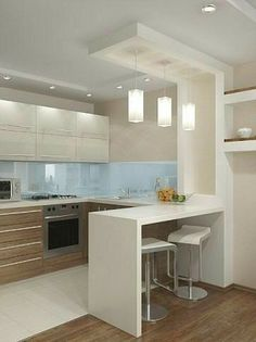 10 Styles Perfect for the small kitchen # Kitchen Faucets # Kitchen Lighting # Kitchen . - Home sweet Home - # for # kitchen . Kitchen Room Design, Kitchen Cabinet Design, Modern Kitchen Design, Kitchen Layout, Home Decor Kitchen, Interior Design Kitchen, Home Design, Kitchen Furniture, Home Kitchens