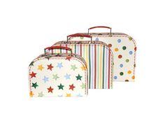 Emma Bridgewater - Set of 3 Paper Suitcases - Polka Dot