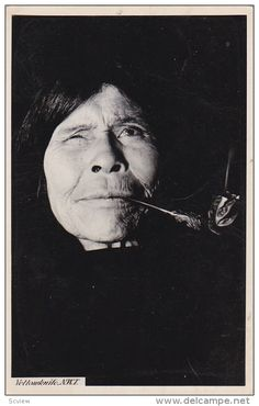 RP: Indian Woman smoking a pipe , YELLOWKNIFE , N.W.T. , 1930s Item number: 253919549 - Delcampe.com Native American Genocide, Native American Actors, Native American History, Native American Indians, Native Americans, Aboriginal History, Native Place, Pipe Smoking