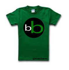 Green Tee with the black, white and green logo design.
