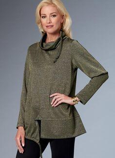 Katherine Tilton for Butterick. B6520 Misses' Knit Top with Split Hem. #butterick #sewingpattern