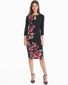 Women's Reversible 3/4-Sleeve Knit Sheath Dress by WHBM