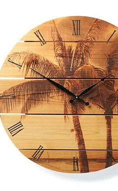I was thinking of having a beach themed room. Or maybe I just really want something that matches the clock..