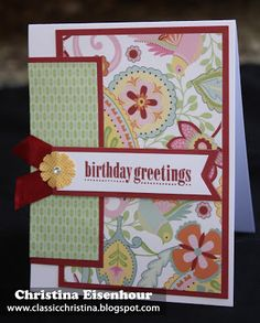 card by Christina Eisenhour using CTMH Chantilly paper... (change sentiment)