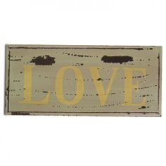 Vintage Look Wooden 'Love' Sign For The Home #homedecor #homeideas www.home33accessories.co.uk
