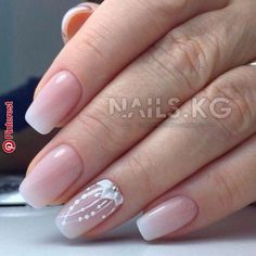 Wedding Nails-A Guide To The Perfect Manicure – NaiLovely Bride Nails, Wedding Nails, Nail Manicure, Diy Nails, Gorgeous Nails, Pretty Nails, Diy Nail Designs, French Tip Nails, French Manicures