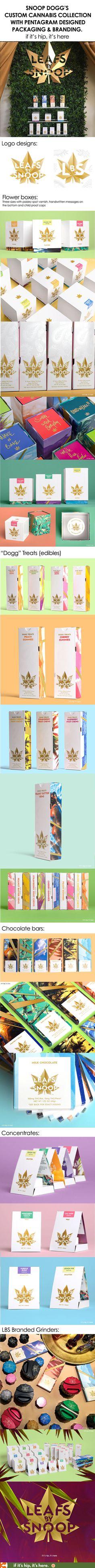 Beautifully designed packaging and branding for Leafs By Snoop by Pentagram.