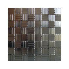 Inoxia Speedtiles - Loft Mosaic Self Adhesive Metal Tile - Per Tile - LOFT ID712-1 - Home Depot Canada