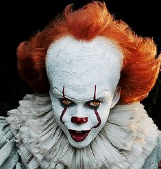 """frankensteinsbrides: """"""""You'll float down here. We all float down here. Penny Wise Clown, Painting Tattoo, Body Painting, Joker Painting, Horror Wallpapers Hd, It Movie 2017 Cast, Horror Photos, Pennywise The Dancing Clown, Evil Clowns"""
