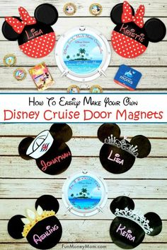 There's a lot to do to get ready for a Disney cruise vacation. One of the most important might just be learning how to make Disney cruise door magnets! Disney Cruise Door, Disney Cruise Tips, Disney Diy, Disney Crafts, Disney Magic, Logo Disney, Walt Disney, Disney Dream Cruise, Disney Ideas