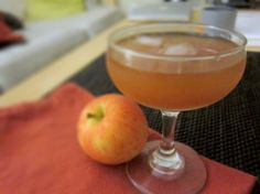 ginger and apple bourbon cocktail.
