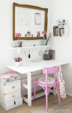 Cute,small-space work area