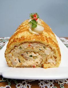 Pionono de Pollo y Palmitos (Chicken Salad Roll with Hearts of Palm)